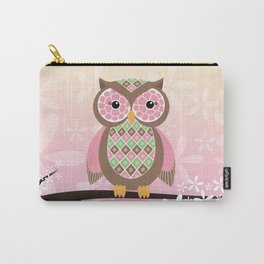 Owl Blossoms Carry-All Pouch