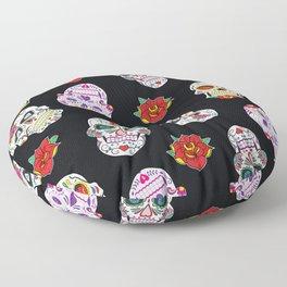 Sugar Skull Pattern Floor Pillow