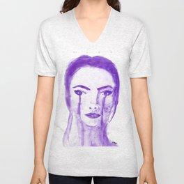 Violet Silence Unisex V-Neck