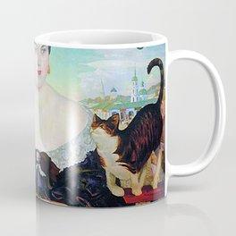 MERCHANT'S WIFE AT TEA - BORIS KUSTODIEV Coffee Mug