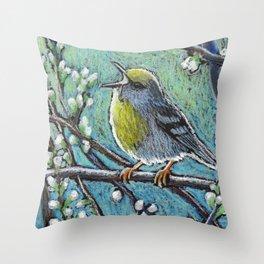 Brewster's Warbler Throw Pillow