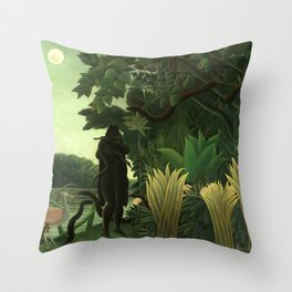 "Henri Rousseau ""The Snake Charmer"" Throw Pillow"