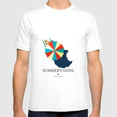 Summer's gone Mens Fitted Tee White SMALL