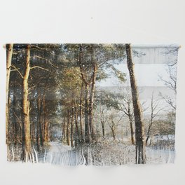 Forest Snow Scene Wall Hanging
