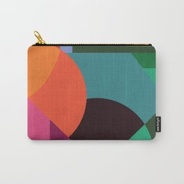 Pink Sunsets Geometric Abstract - Bybrije Carry-All Pouch