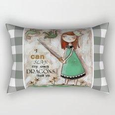Dragonslayer - by Diane Duda Rectangular Pillow