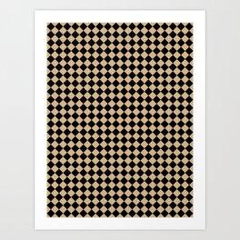 Black and Tan Brown Diamonds Art Print