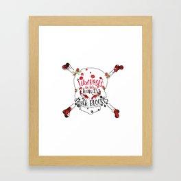 Illuminae - Death Like Roses Framed Art Print