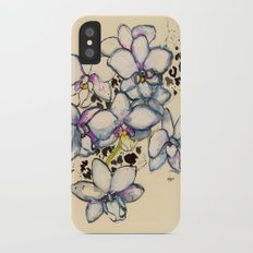 White Orchids Slim Case iPhone X