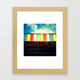 Colorful Awning Framed Art Print