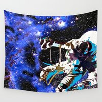 astronaut Wall Tapestries featuring Astronaut  by Saundra Myles