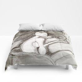 ef off girl Comforters