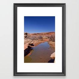 A Stream runs through it Framed Art Print