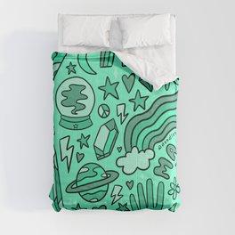 Turquoise Print Comforters