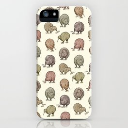 Hungry Kiwis – Cool Earth Tones iPhone Case