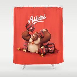 16 Bit Addiction Shower Curtain