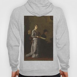Singing a Pathetic Song Oil Painting by Thomas Eakins Hoody