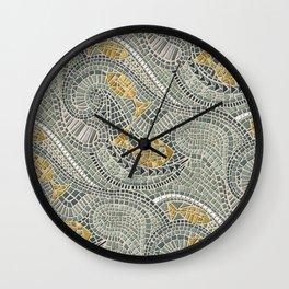 mosaic fish Wall Clock