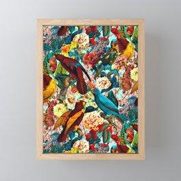 FLORAL AND BIRDS XV Framed Mini Art Print