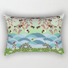 beautiful river Rectangular Pillow