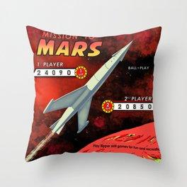 Mission To Mars Retro Pinball Throw Pillow