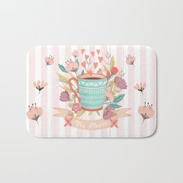 Tea Please, A Cup Of Tea Would Be Ever So Lovely Bath Mat