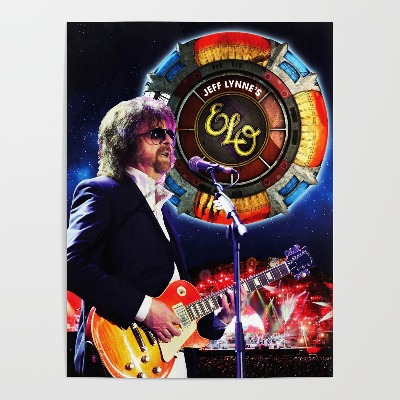 Elo Tour Dates 2020 jeff lynne elo live tour 2019 2020 udahbaun Poster by sussa   Society6