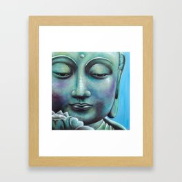 Buddha Lotus Framed Art Print