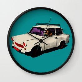 Trabant white pop Wall Clock