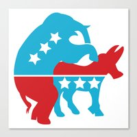 politics Canvas Prints featuring Politics by Mike Stark