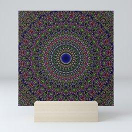 Colorful Sacred Kaleidoscope Mandala Mini Art Print