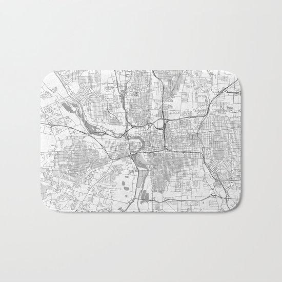 Columbus Map Line Bath Mat