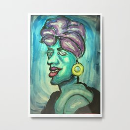 African Witch Metal Print