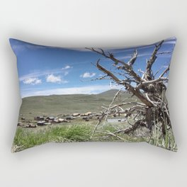 Ghost town twisted tree Rectangular Pillow