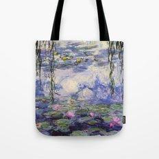 1917 Water Lilies oil on canvas. Claude Monet. Vintage fine art. Tote Bag
