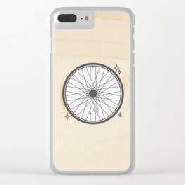 Bicycle rim with the solar system Clear iPhone Case