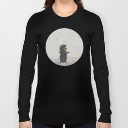 Hedgehog in the Fog fly like butterflies Long Sleeve T-shirt
