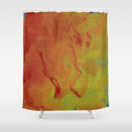 Flower | Flowers | Fading Flower | Red Abstract Shower Curtain
