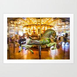 Merry Go Round Carousel Horse Art Print