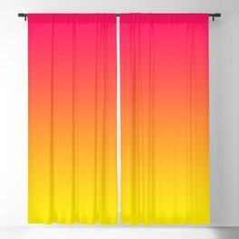 Bright Pink and Yellow Ombre Blackout Curtain