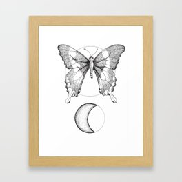 The Moon Butterfly Framed Art Print