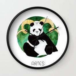 Panda Zodiac Aries Wall Clock