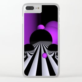 pink or violet -1- Clear iPhone Case
