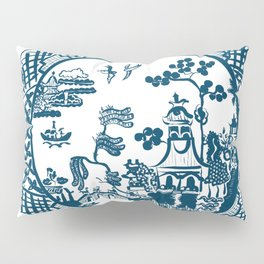 Classic Blue Willow Pillow Sham