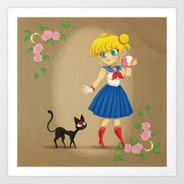 Retro Sailor Moon Art Print