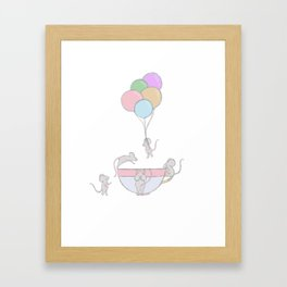 Fun in the mouse pool Framed Art Print