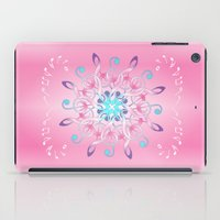 music notes iPad Cases featuring Music Notes In Pink by HK Chik