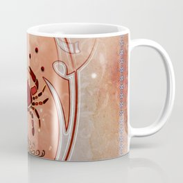 Decorative crab in red colors Coffee Mug