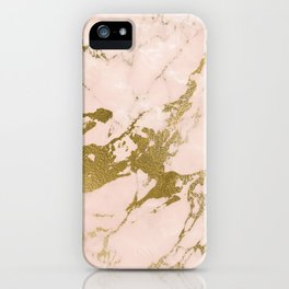 Champagne Blush Marble iPhone Case