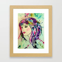 Goddess of The Electric Moon Framed Art Print